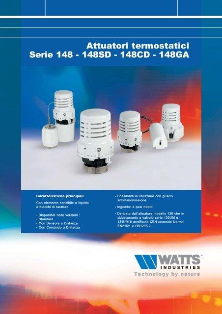 Attuatori termostatici Serie 148 - 148SD - 148CD ... - Watts Industries