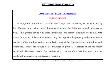 LIST UPDATED ON 27-09-2013 COMMERCIAL TAXES ...