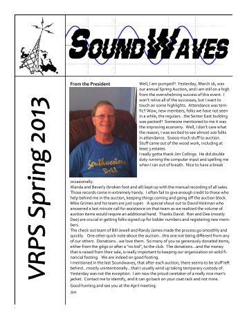 Soundwaves APR 2013 - Vintage Radio and Phonograph Society