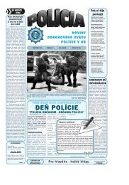 POLICIA 07 2004 b.qxd - Odborový zväz polície v Slovenskej ...
