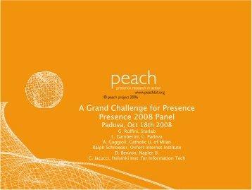 Ruffini Peach PGC2 Padova 20081018s.pdf - Peach   - Presence ...