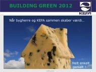 building green 2012 - bei KEFA International Handels GmbH