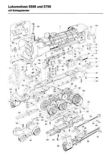 Einzelteile der Lokomotive 54561 - Modellismo ferroviario