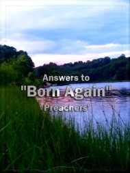 Answers to Born Again Preachers - World Of Islam Portal