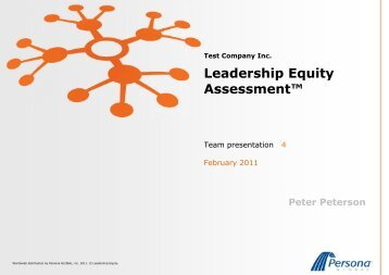 Leadership Equity Assessment™ - Persona Global