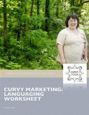 CURVY MARKETING: LANGUAGING WORKSHEET - Curvy Yoga