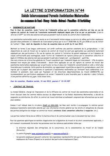 LA LETTRE D'INFORMATION N°44 - Mairie de Baud
