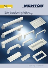 Metallgriffsystem in speziellem Farbdesign Metallic Handle System ...