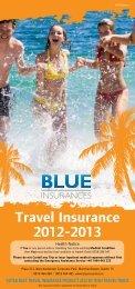 Travel Insurance 2012-2013 - Blue Insurances