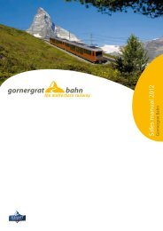 Sales manual 2012 G - Gornergrat Bahn