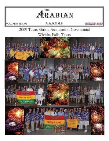 Summer 2009 Arabian Newsletter - Arabia Shrine Temple