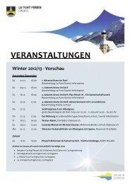 VERANSTALTUNGEN Winter 2012/13 - Vorschau - Gemeinde La Punt