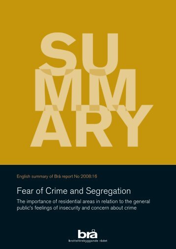 fear of crime Download citation on researchgate | fear of crime: a review of the literature | reviews and summarizes the mass of material written on some aspect or other of fear.