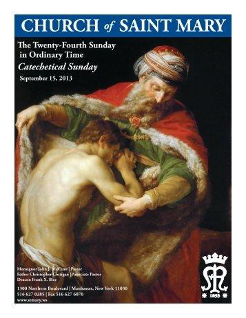 September 15, 2013 - St. Mary's Roman Catholic Church