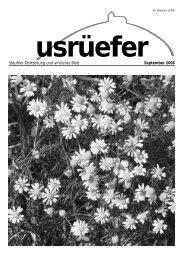 Staufner Dorfzeitung und amtliches Blatt September 2006 - Staufen