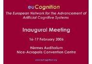European Network for the Advancement of Artificial ... - David Vernon