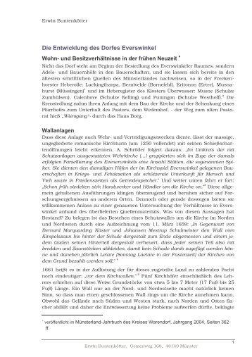 Die Entwicklung des Dorfes Everswinkel - Heimatverein Everswinkel