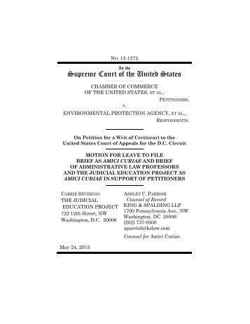 Law Professors' Amicus Brief in Support of Certiorari - National ...