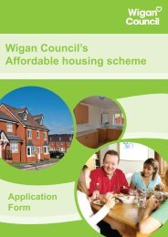 Home Ownership Loans Application Form - Wigan Council
