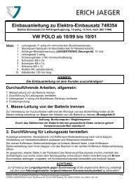 Einbauanleitung Erich Jaeger | Elektrosatz für VW ... - Bertelshofer