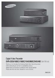 Samsung SVR-3200 User Manual