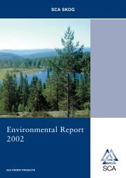 Environmental Report 2002 - SCA Forest Products AB