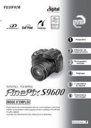 FinePix S9600 Mode d'emploi - Fujifilm France