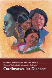 Cardiovascular Disease - Office of Research on Women's Health