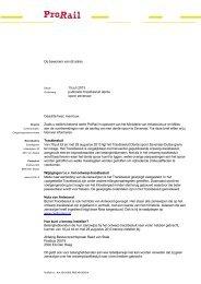 informatiebrief - ProRail