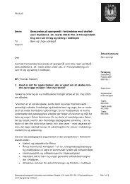 Århus Kommune Emne Besvarelse på spørgsmål i forbindelse med ...
