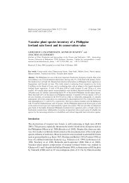 Vascular plant species inventory of a Philippine lowland rain forest ...