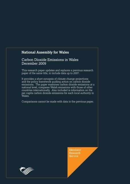 Carbon Dioxide Emissions in Wales December 2009 - National ...