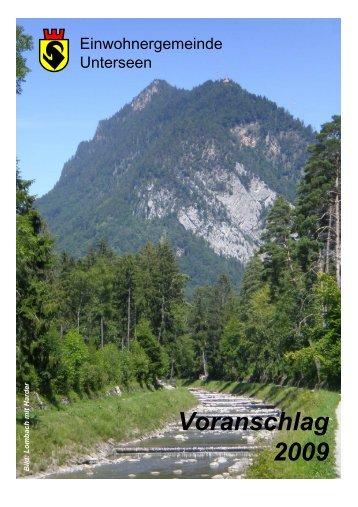 Voranschlag 2009 - Unterseen