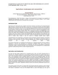 Agriculture, landscapes and connectivity - Centre for Mediterranean ...