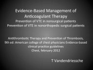 Evidence-‐Based Management of An/coagulant Therapy - ICU