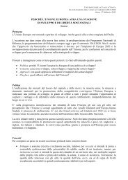 Lectio Magistralis Ministro Fabrizio Barca - Università della Valle d ...