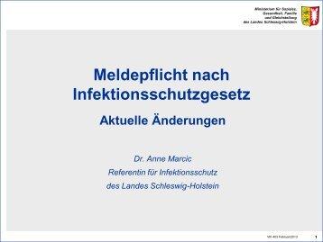 Meldepflicht nach Infektionsschutzgesetz