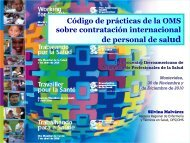 Código de prácticas de la OMS sobre contratación internacional de ...