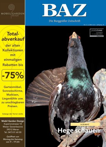 Hege schauen - BAZ - Die Burggräfler Zeitschrift