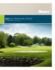 2013 GOLF IRRIGATION CATALOG - Hunter Industries