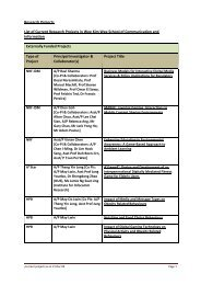 Research Projects List of Current Research Projects in Wee Kim ...