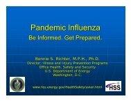 Pandemic Influenza - U.S. Department of Energy