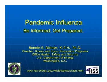 Pandemic Influenza - U.S. Department of Energy