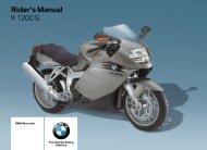 Rider's Manual K 1200 S - K100.biz