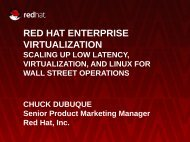 RED HAT ENTERPRISE VIRTUALIZATION - Flagg Management Inc