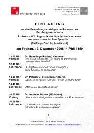 Vortrag - Universität Hamburg