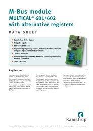 M-Bus module MULTICAL® 601/602 with alternative registers ...