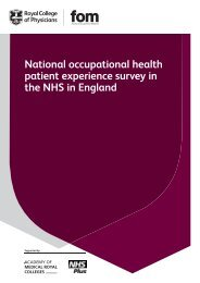 Patient experience survey - full report - Royal College of Physicians
