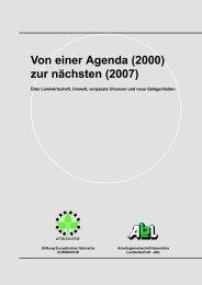 Von einer Agenda (2000) zur nächsten (2007) - Die bessere ...