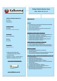 Kalkınma Dergisi Ekim-Aralık 2012 66. Sayı - Türkiye Kalkınma ...